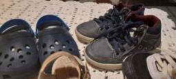 Lote sapatos menino número 21/22