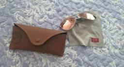 Título do anúncio: Cod-93 Óculos Ray Ban espelhado Rosa Novo