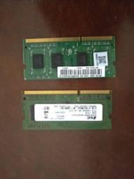 Memóras Ram de NotebookDDR3 2gb cada