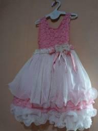 Lindo Vestido para sua Princesa Semi Novo