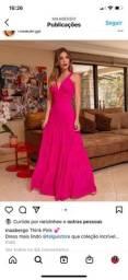 Vendo vestido longo Pink por ótimo preço!!