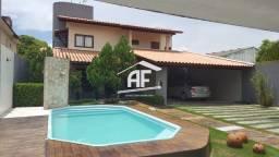 Título do anúncio: Casa com 4/4 sendo 3 suítes, piscina e churrasqueira - Condomínio Rancho Bom
