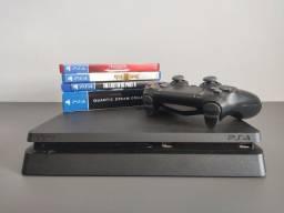 Playstation 4 Slim 500GB + 6 Jogos (PS4)