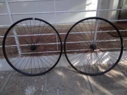 Título do anúncio: roda de mtb com aro vzan e cubo shimano + disco