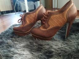 Sapato alto plataforma 38 forma pequena