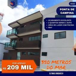 Apartamento para Venda em Cabedelo, Ponta de Campina, 2 dormitórios, 1 suíte, 2 banheiros,
