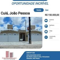 Casa para Venda em João Pessoa, Cúia, 2 dormitórios, 1 banheiro, 1 vaga
