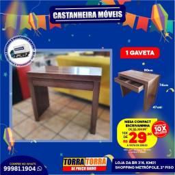 Mesa Compact, Escrivaninha, 10x  de R$ 29,90, sem Juros!!