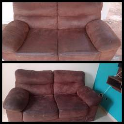 Vendo sofá semi novo conservado