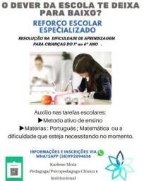 Título do anúncio: AULAS DE REFORÇO ESCOLAR
