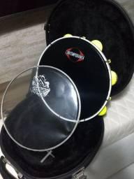 Pandeiro GS Brasil + Case + Pele Crystal