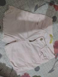 Short rosa claro semi-novo