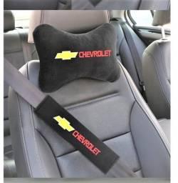 Título do anúncio: Capa Cinto De Segurança Chevrolet+travesseiro 4pças