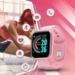 Relógio D20 Smartwatch Tecnologia e Beleza Rosa Bluetooth