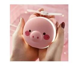 Título do anúncio: Ventiladores porquinho com led e espelho - b27