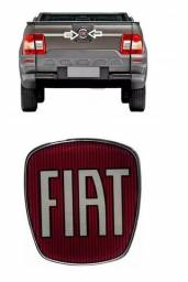 Emblema logo parachoque Tampa Maçaneta Traseira Fiat Strada todas 2008 ate 2019