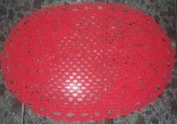 Título do anúncio: Tapete de crochê oval