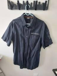 Camisa harley davidson semi-nova tam G
