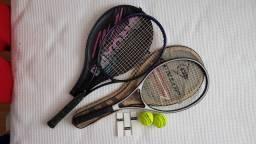 Conjunto de Raquetes de Tênis (usadas) + Brindes