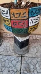 Título do anúncio: Vasos de Cimento 3D Pintados Com Coluna e Substrato