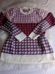 Blusa inverno tricô modal