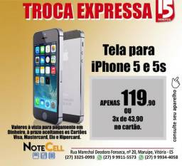 Apenas 119,90 - Tela para iPhone 5 5S 5C - 15 Serviço em 15 Minutos - Valor já instalados