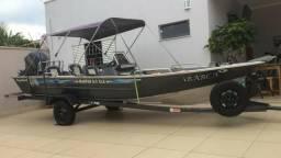 Vendo lancha leve forte mod. marfim 6.0 clx pescador, motor yamaha 60 hp 4 tempos, 2012 - 2012, usado comprar usado  Presidente Prudente