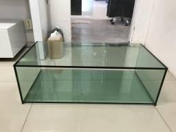 Mesa de centro em vidro laminado verde ou refletivo fume de 12mm