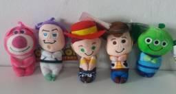 Chaveiro Toy Story 12cm Pelucia Kit C/ 5 Unidades Disney Coleção Personagem