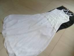 Vestido Branco - Por 100