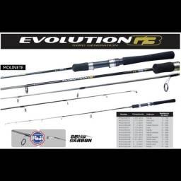 Vara de pesca Evolution G3, Marine Sports, 8-17lbs, 1,20m, fibra de carbono inteiriça.