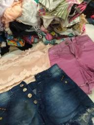 Sacolão de roupas brechó 60 Peças r$ 80