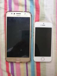 Vende se um iphone 5s 32 GB e um Moto g 5s 32gb