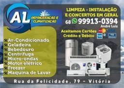 Conserto geladeira? instalação e manutenção ar condicionado?
