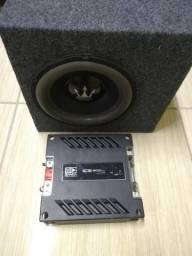 Módulo amplificador banda ice 800 rms + caixa selada REX