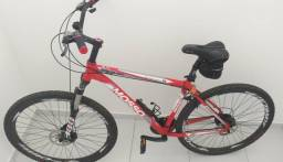 Mountain Bike Mosso aro 29 Discovery, com peças Shimano
