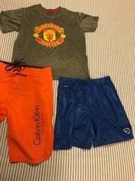 Vendo uma Camisa Manchester United, um short NIKE e uma Bermuda Calvin Klein por 50 reais