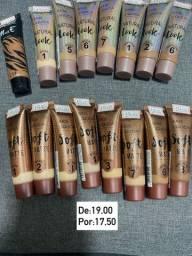 Produtos para maquiagem e preparação de pele
