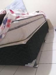 Vendo cama box  de casal ortobom
