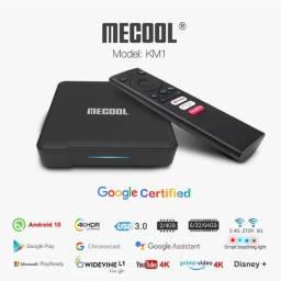 Tv box androidtv caixa amlogic s905x3 android 9.0/10.0 suporte prime vídeo 4k