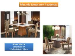 Mesa de jantar com 4 cadeiras Pieer 6185 - vários modelos chame *