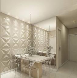 Gesso decorativo 3d alto relevo, material instalado