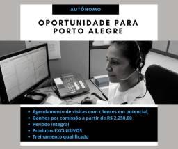 Ganho comissionado a partir de R$ 2.250,00 - Porto Alegre