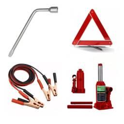 Kit estepe/emergência básico (4 itens)(chave/chupeta/macaco/triângulo) - Caruaru (PE)