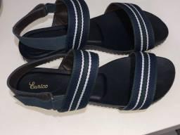 Sandália azul marinho 42