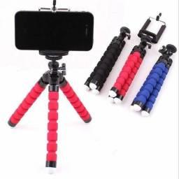 Mini tripé celular flexível suporte de celular câmeras go pro ajustável