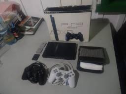 Playstation 2 Original + 2 Controles Originais + 3 Memory Cards (Play 2 Colecionador)