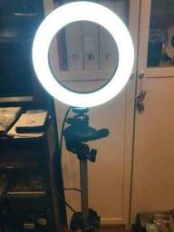 Iluminador RING LIGHT 26 cm com Tripé  + suporte central ???FRETE GRÁTIS E PRONTA ENTREGA!