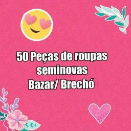 Fardo 50 roupas seminovas  para Bazar/Brechó