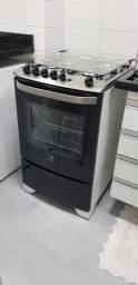 Fogão Piso 4 Bocas Electrolux Com Grill e Timer Branco Bivolt - 56TAB